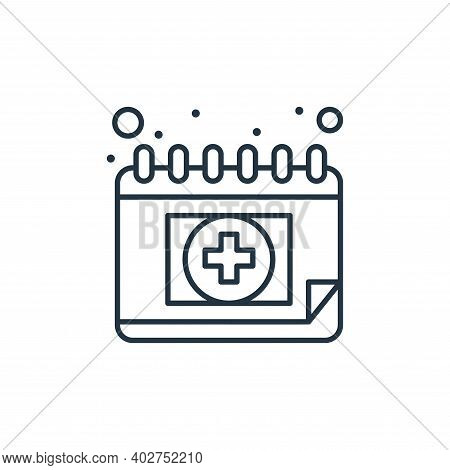 medical appointment icon isolated on white background. medical appointment icon thin line outline li
