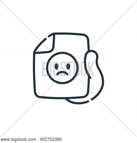 bad review icon isolated on white background. bad review icon thin line outline linear bad review sy
