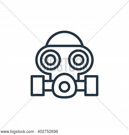 gas mask icon isolated on white background. gas mask icon thin line outline linear gas mask symbol f