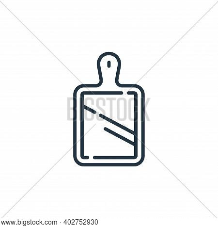 chopping board icon isolated on white background. chopping board icon thin line outline linear chopp