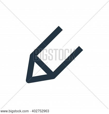 pencil icon isolated on white background. pencil icon thin line outline linear pencil symbol for log
