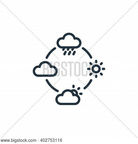 weather icon isolated on white background. weather icon thin line outline linear weather symbol for