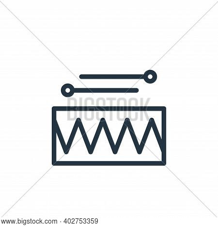 drums icon isolated on white background. drums icon thin line outline linear drums symbol for logo,