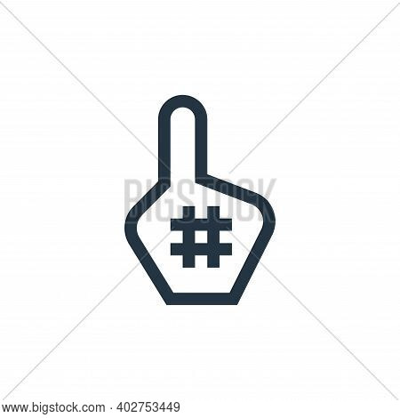 foam hand icon isolated on white background. foam hand icon thin line outline linear foam hand symbo