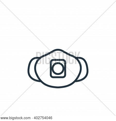 respirator icon isolated on white background. respirator icon thin line outline linear respirator sy