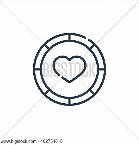 donation icon isolated on white background. donation icon thin line outline linear donation symbol f