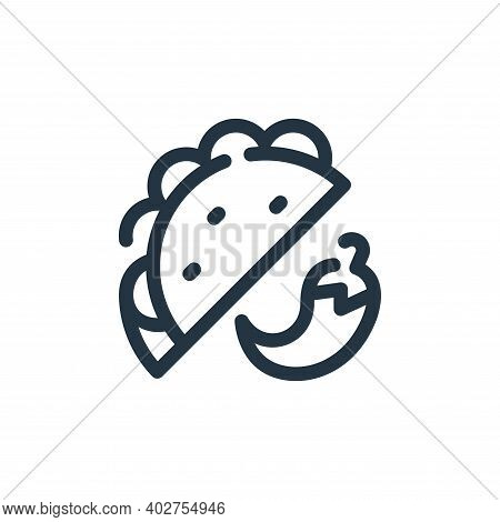 Taco Vector Icon Isolated On White Background.