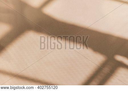 Aesthetic window shadow beige on texture background
