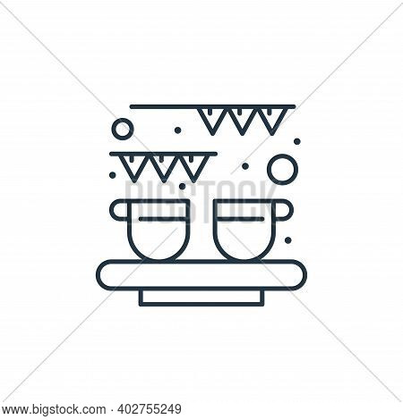 celebration icon isolated on white background. celebration icon thin line outline linear celebration