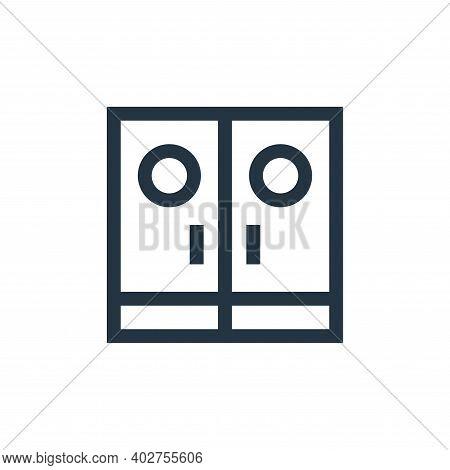 entrance icon isolated on white background. entrance icon thin line outline linear entrance symbol f