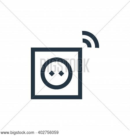 plug in icon isolated on white background. plug in icon thin line outline linear plug in symbol for