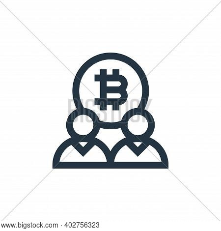 bitcoin icon isolated on white background. bitcoin icon thin line outline linear bitcoin symbol for