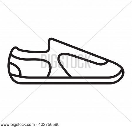Sneakers Icon. Outline Shoes Sign. Sport Footwear.