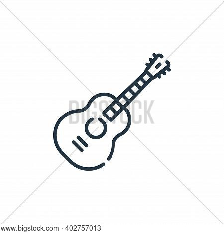 guitar icon isolated on white background. guitar icon thin line outline linear guitar symbol for log