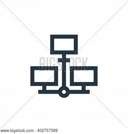 distributed database icon isolated on white background. distributed database icon thin line outline