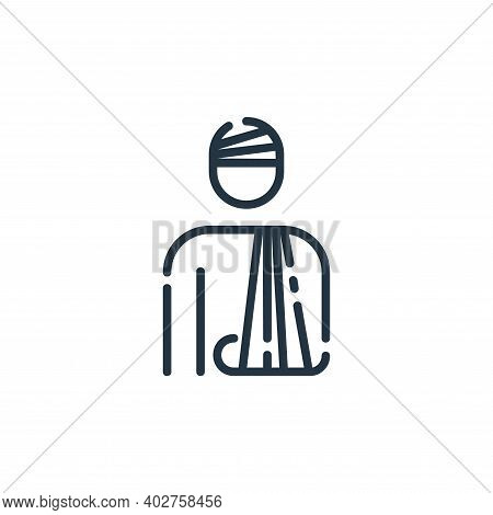 injury icon isolated on white background. injury icon thin line outline linear injury symbol for log