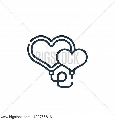 hearts icon isolated on white background. hearts icon thin line outline linear hearts symbol for log
