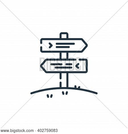 signpost icon isolated on white background. signpost icon thin line outline linear signpost symbol f
