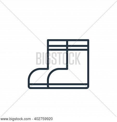 boots icon isolated on white background. boots icon thin line outline linear boots symbol for logo,