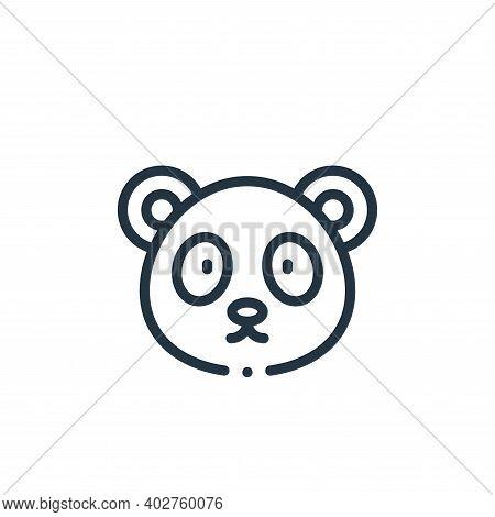 panda bear icon isolated on white background. panda bear icon thin line outline linear panda bear sy