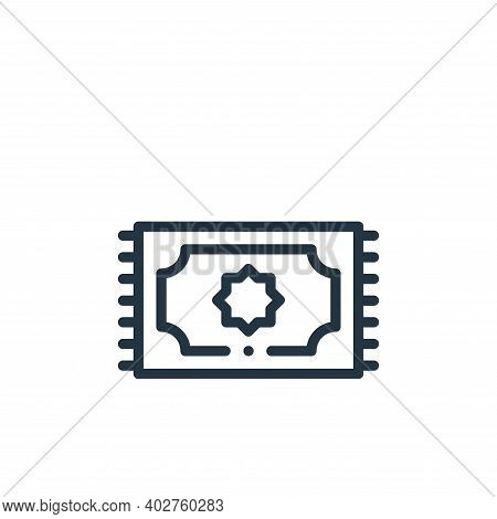 pray icon isolated on white background. pray icon thin line outline linear pray symbol for logo, web