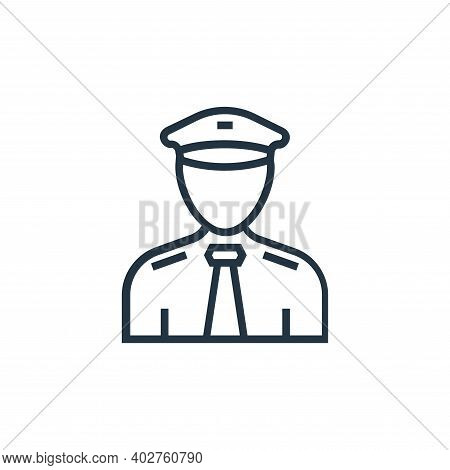 pilot icon isolated on white background. pilot icon thin line outline linear pilot symbol for logo,