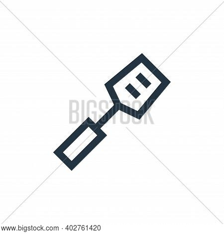 spatula icon isolated on white background. spatula icon thin line outline linear spatula symbol for