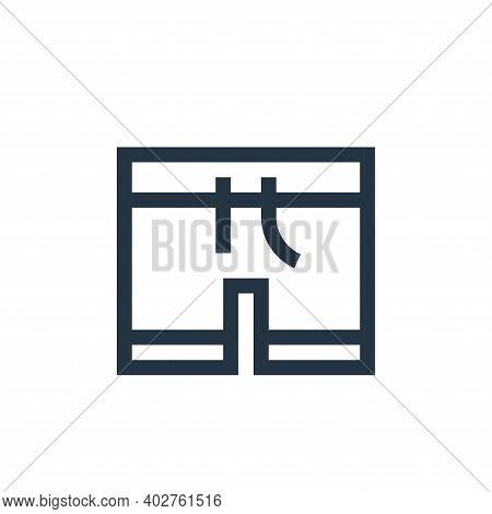 swimsuit icon isolated on white background. swimsuit icon thin line outline linear swimsuit symbol f