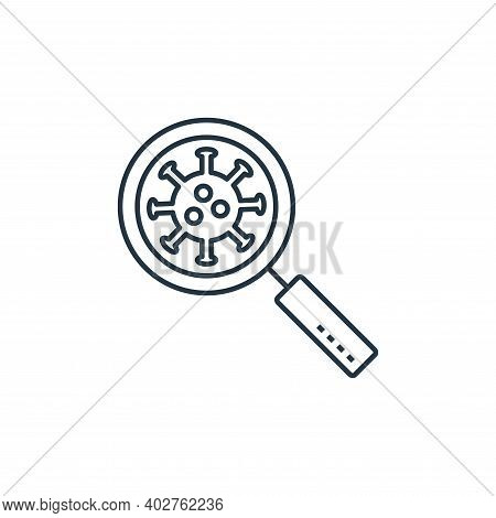 magnifying glass icon isolated on white background. magnifying glass icon thin line outline linear m
