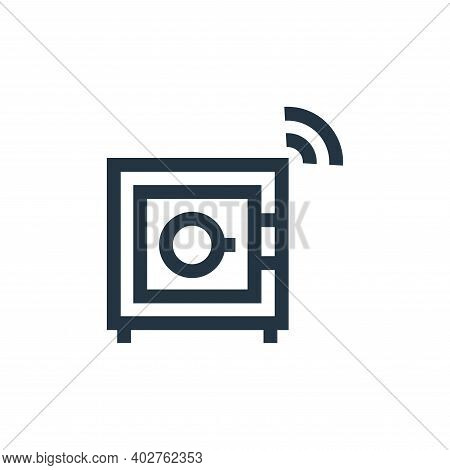safe box icon isolated on white background. safe box icon thin line outline linear safe box symbol f