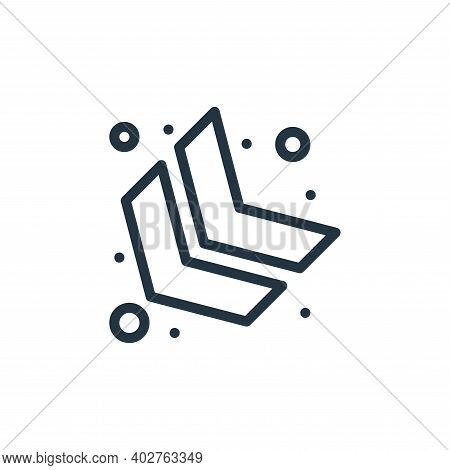 down left arrow icon isolated on white background. down left arrow icon thin line outline linear dow