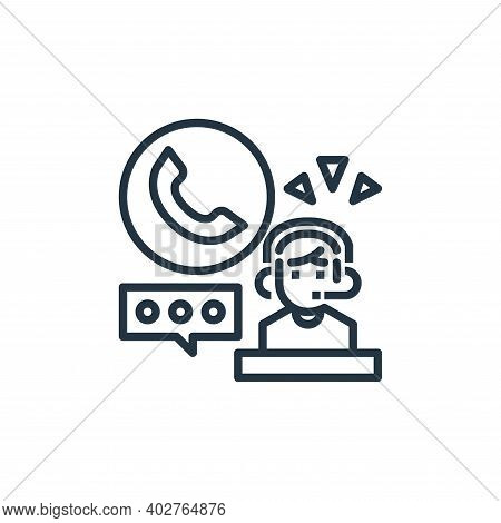 customer service icon isolated on white background. customer service icon thin line outline linear c