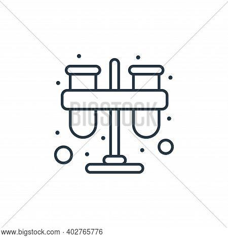 test tube icon isolated on white background. test tube icon thin line outline linear test tube symbo