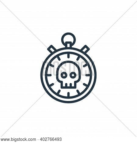 stopwatch icon isolated on white background. stopwatch icon thin line outline linear stopwatch symbo