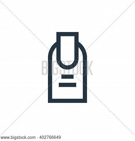 manicure icon isolated on white background. manicure icon thin line outline linear manicure symbol f