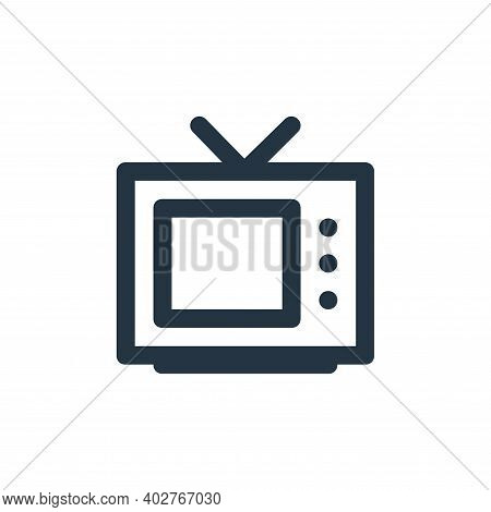 tv monitor icon isolated on white background. tv monitor icon thin line outline linear tv monitor sy