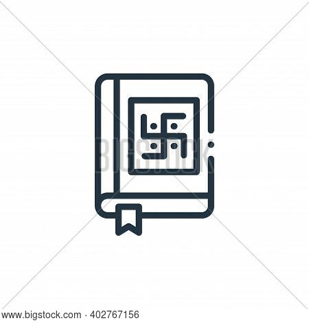 vedas icon isolated on white background. vedas icon thin line outline linear vedas symbol for logo,