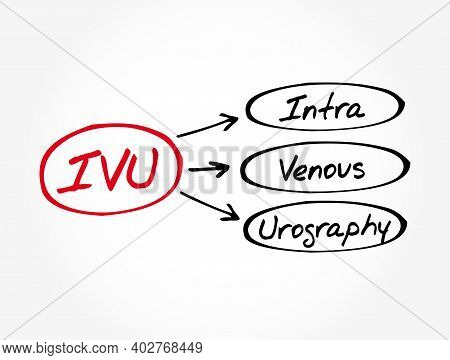 Ivu - Intravenous Urography Acronym, Medical Concept Background