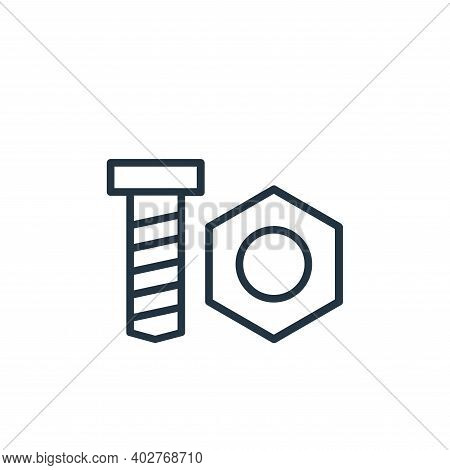 nut icon isolated on white background. nut icon thin line outline linear nut symbol for logo, web, a