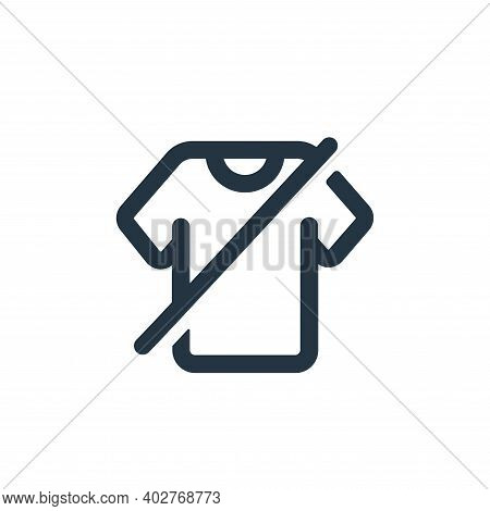 clothes icon isolated on white background. clothes icon thin line outline linear clothes symbol for