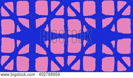 Japanese Tie Dye Seamless Pattern. Bohemian Geometric Asian Tie Dye