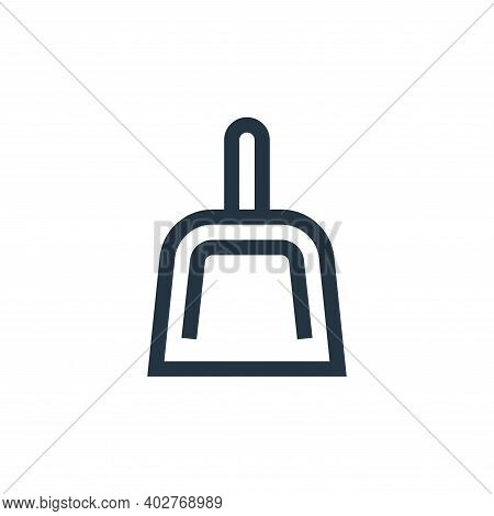 dust pan icon isolated on white background. dust pan icon thin line outline linear dust pan symbol f