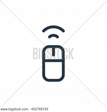 wireless mouse icon isolated on white background. wireless mouse icon thin line outline linear wirel