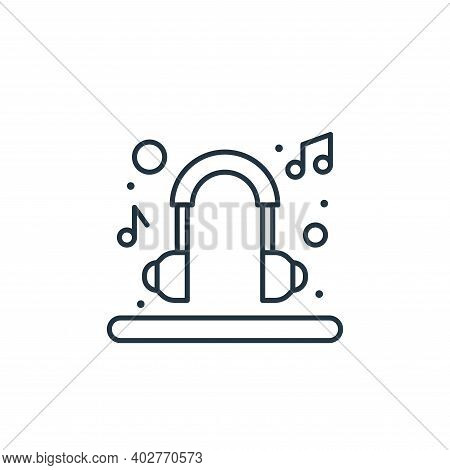 headset icon isolated on white background. headset icon thin line outline linear headset symbol for