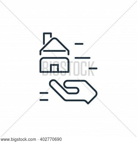 loan icon isolated on white background. loan icon thin line outline linear loan symbol for logo, web