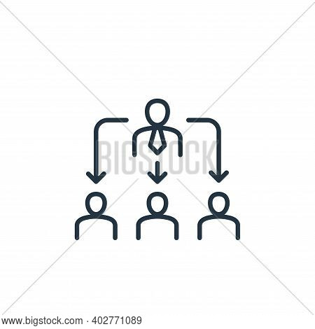 director icon isolated on white background. director icon thin line outline linear director symbol f