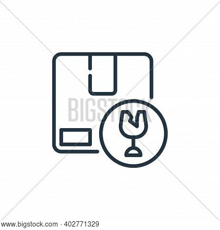 fragile icon isolated on white background. fragile icon thin line outline linear fragile symbol for