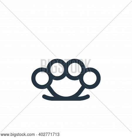 brass knuckles icon isolated on white background. brass knuckles icon thin line outline linear brass