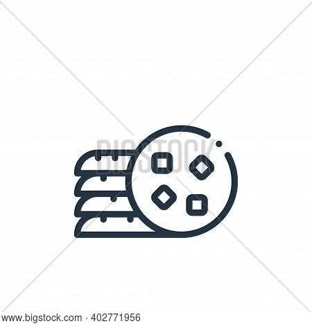 cookies icon isolated on white background. cookies icon thin line outline linear cookies symbol for