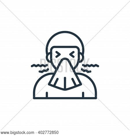 Sneezing Vector Icon Isolated On White Background.